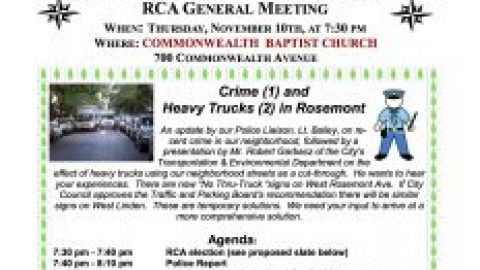 RCA Meeting | November 2016