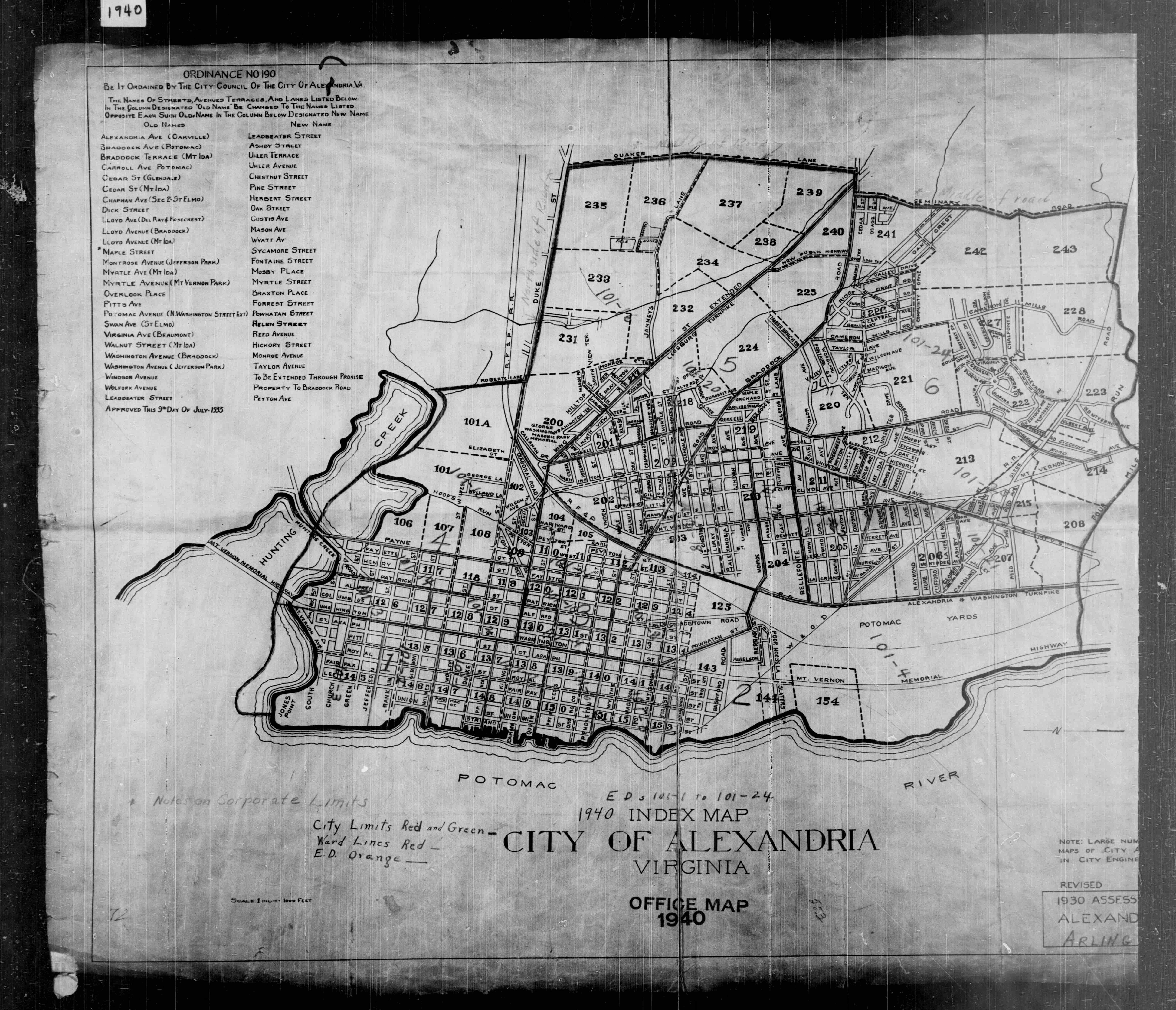 1940 census enumeration map
